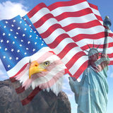Les Etats-Unis Liberty Flag Photo stock