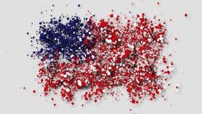 Les Etats-Unis marquent apparaître graduellement des particules avec le canal alpha illustration stock