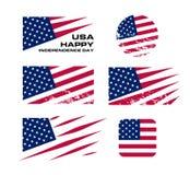 Les Etats-Unis marquent l'ensemble avec des coups de racloir sur le fond blanc, illustration de vecteur Élément national américai illustration stock