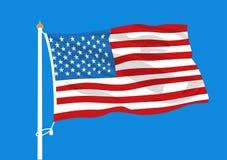 Les Etats-Unis marquent l'ondulation illustration stock