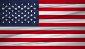 Les Etats-Unis marquent le vecteur Dirigez le drapeau du blowig des Etats-Unis dans le vent illustration de vecteur