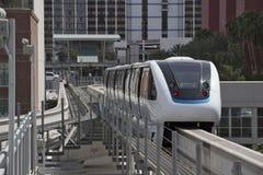 LES Etats-Unis - Monor automatique Driverless du monorail train4-cars du Nevada - Las Vegas Image stock
