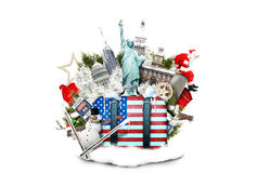 Les Etats-Unis, points de repère des Etats-Unis Photographie stock libre de droits
