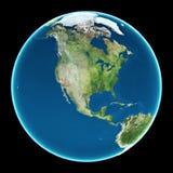 Les Etats-Unis sur terre de planète Image libre de droits