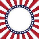 Les Etats-Unis tiennent le premier rôle le cadre rond de modèle de vecteur Frontière patriotique américaine de cercle avec le mod illustration libre de droits