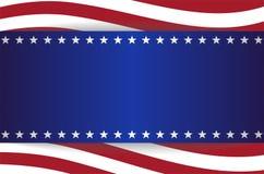 Les Etats-Unis tiennent le premier rôle la bannière d'éléments de rayures de fond de drapeau illustration libre de droits