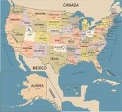 Les Etats-Unis tracent - l'illustration de vecteur de vintage illustration libre de droits
