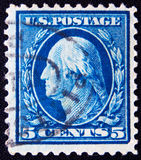 Les Etats-Unis vers 5 cents 1911 Images stock