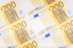 Les euro billets de banque ont réparti le plancher - devise européenne Images stock