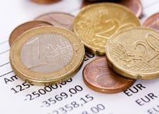Pièces de monnaie financières Photo libre de droits