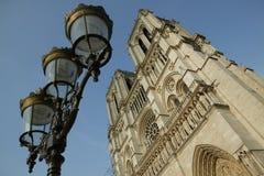 Les excursiona o Notre-Dame de Paris do de foto de stock