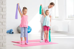 Les exercices vous rendront fort ! photographie stock