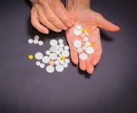 Les experts avec des pilules Photo libre de droits