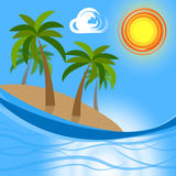 Les expositions tropicales d'île vont sur le congé et l'atoll Photo stock