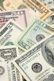 les factures ferment le dollar vers le haut de nous Photographie stock libre de droits