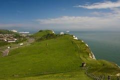 Les falaises blanches de Douvres, Kent, U k photographie stock libre de droits