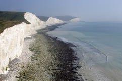 Les falaises blanches de l'Angleterre du sud Images libres de droits