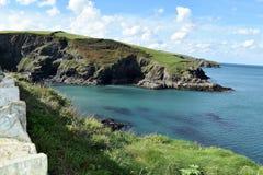 Les falaises cornouaillaises Photographie stock