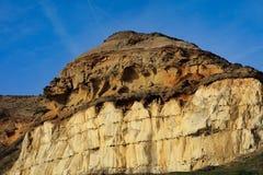 Les falaises de craie sous la colline de château, New Haven le Sussex Photo libre de droits