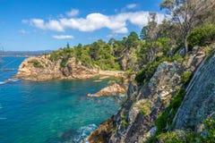 Les falaises de l'Éden spectaculaire, Australie Photographie stock libre de droits