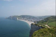 Les falaises de l'etretat Image libre de droits