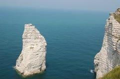 Les falaises de l'etretat Photo libre de droits