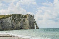 Les falaises de l'etretat Photos libres de droits