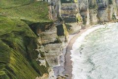 Les falaises de l'etretat Images libres de droits