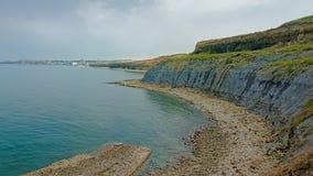Les falaises de la Mer du Nord opale française marchent près du mer de sur de Boulogne photographie stock