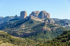 Les falaises en Els Ports Natural Park, Espagne image libre de droits
