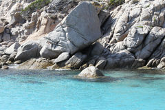 Les falaises et la mer Photos libres de droits