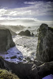 Les falaises s'approchent de la baie de Bodega Photo libre de droits