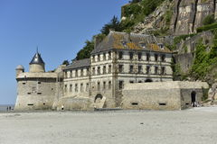Les Fanils de Mont Saint Michel, Normandía, Francia Imagen de archivo