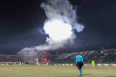 Les fans emploient des sapeurs-pompiers photos libres de droits