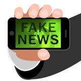 Les fausses actualités ou les faits alternatifs téléphonent l'illustration 3d Photo stock