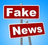 Les fausses actualités signent l'illustration alternative des faits 3d d'expositions Photos libres de droits