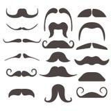 Les fausses moustaches drôles pour le masque de bouche dirigent la collection illustration libre de droits