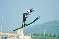 Les femmes 2009 de coupe du monde de Putrajaya Waterski sautent Photo stock