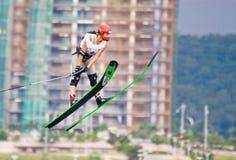 Les femmes 2009 de coupe du monde de Putrajaya Waterski sautent Photos libres de droits