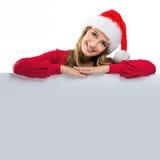 Les femmes de Noël, compte sur la table derrière photographie stock libre de droits