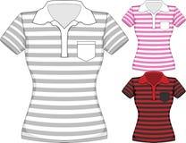 Les femmes de vecteur court-circuitent la conception de T-shirt de douille Images stock