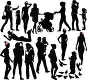 Les femmes et les enfants de filles Photographie stock libre de droits