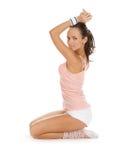 Les femmes folâtre des exercices et des poses Photographie stock libre de droits