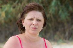 Les femmes font face aux coups de vent Photographie stock