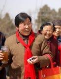 Les femmes heureux justes de temple Photo libre de droits