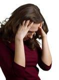 Les femmes ont un mal de tête Photos stock
