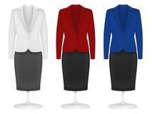 Les femmes raffinent la veste et la jupe illustration stock