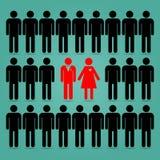 Les femmes tendent à choisir des hommes illustration libre de droits