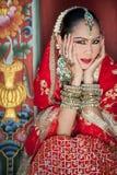 Les femmes thaïlandaises exécutent des danses d'Inde dans des costumes historiques Images libres de droits