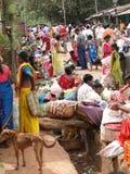 Les femmes tribales vendent des légumes Photographie stock libre de droits